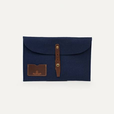 Misha Laptop 11 sleeve - Blue felt