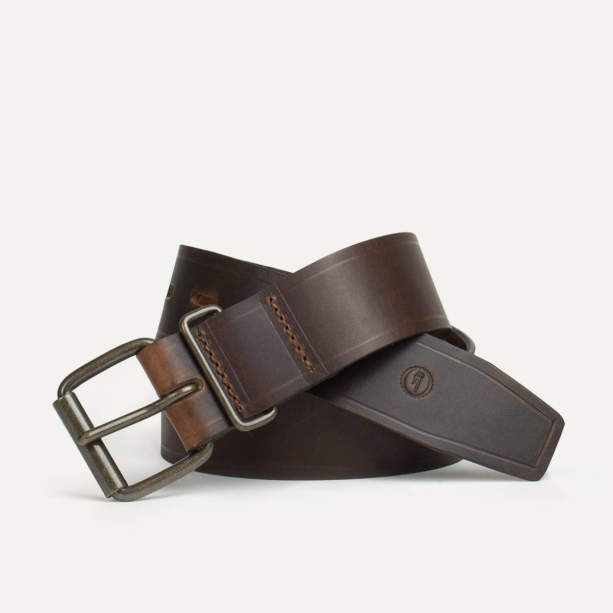 Ceinture cuir homme fred made in france bleu de chauffe for Fabricant canape cuir france