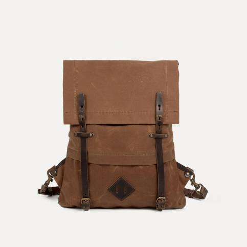 Coursier backpack WAXY - Camel/Brown