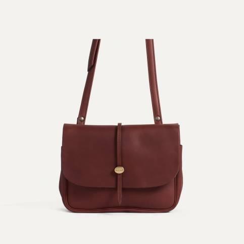 Mini sac postier Pastel L - Tourbe