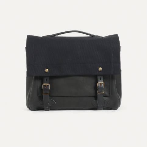 Postman bag Eclair - Black / Bleu de Chauffe x Le Mont Saint Michel