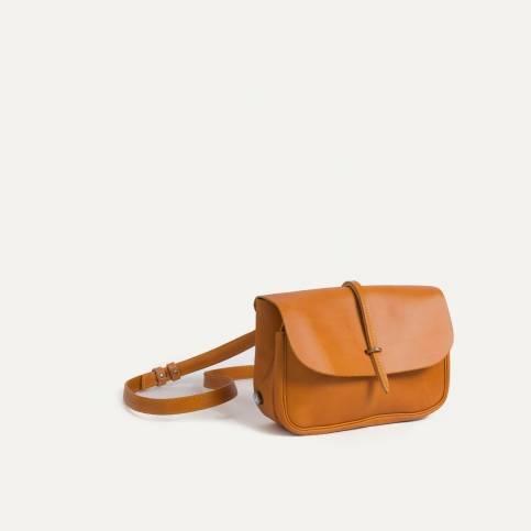 Mini sac postier Pastel - Camel/Jaune