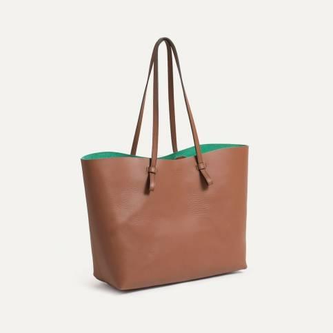 Joy Tote bag - Choco/Green