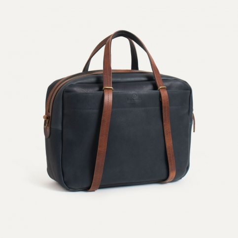 Business bag Report - Navy blue/Pain Brûlé