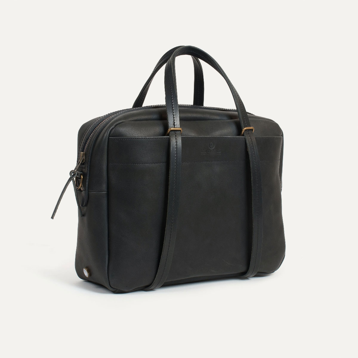 sac business homme toile et cuir fabriqu en france bleu de chauffe. Black Bedroom Furniture Sets. Home Design Ideas