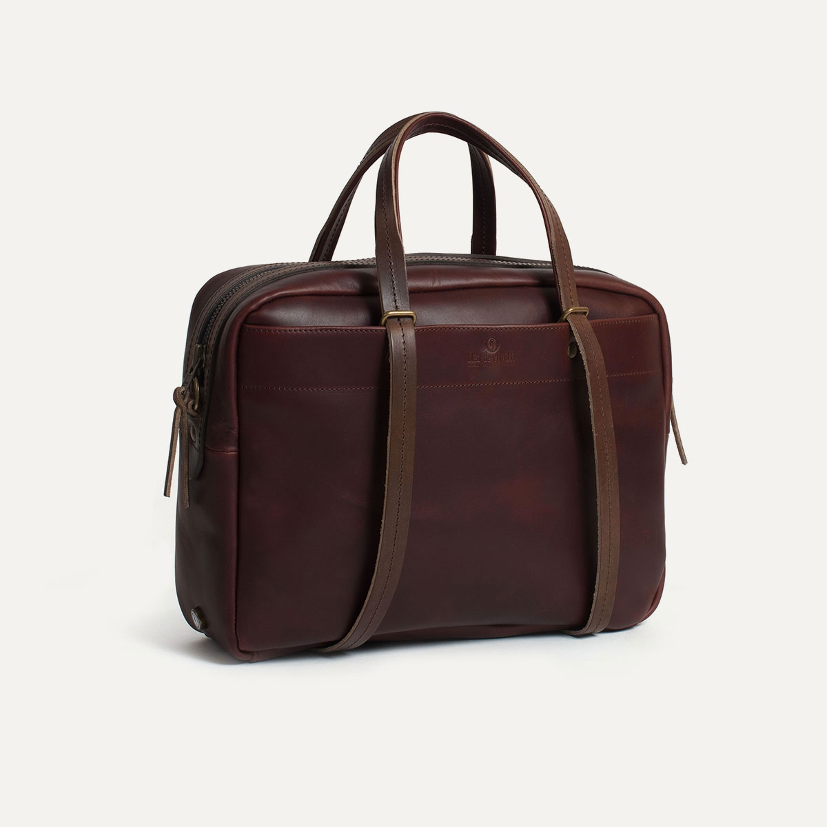 sac report i sac porte ordinateur cuir homme bleu de chauffe. Black Bedroom Furniture Sets. Home Design Ideas
