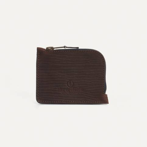 As zipped purse - Brown/Cork