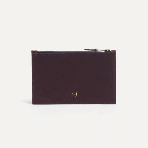 Leather Pouch COSMO S - Peat