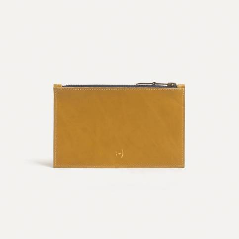 Leather Pouch COSMO S - Yellow