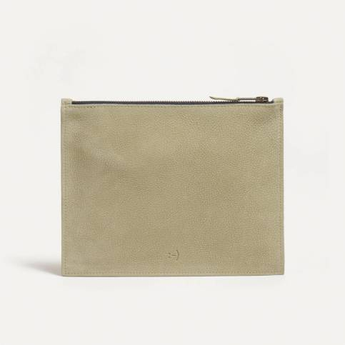 Leather Pouch COSMO M - Almond