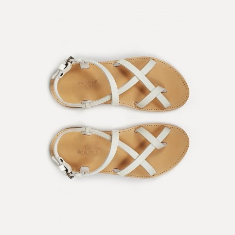 Nara leather sandals - White