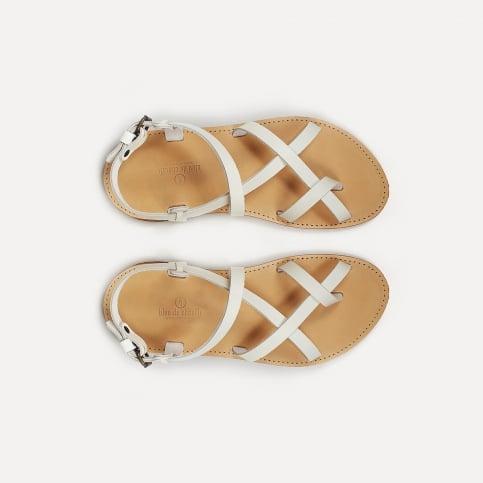 Nara leather sandals - White