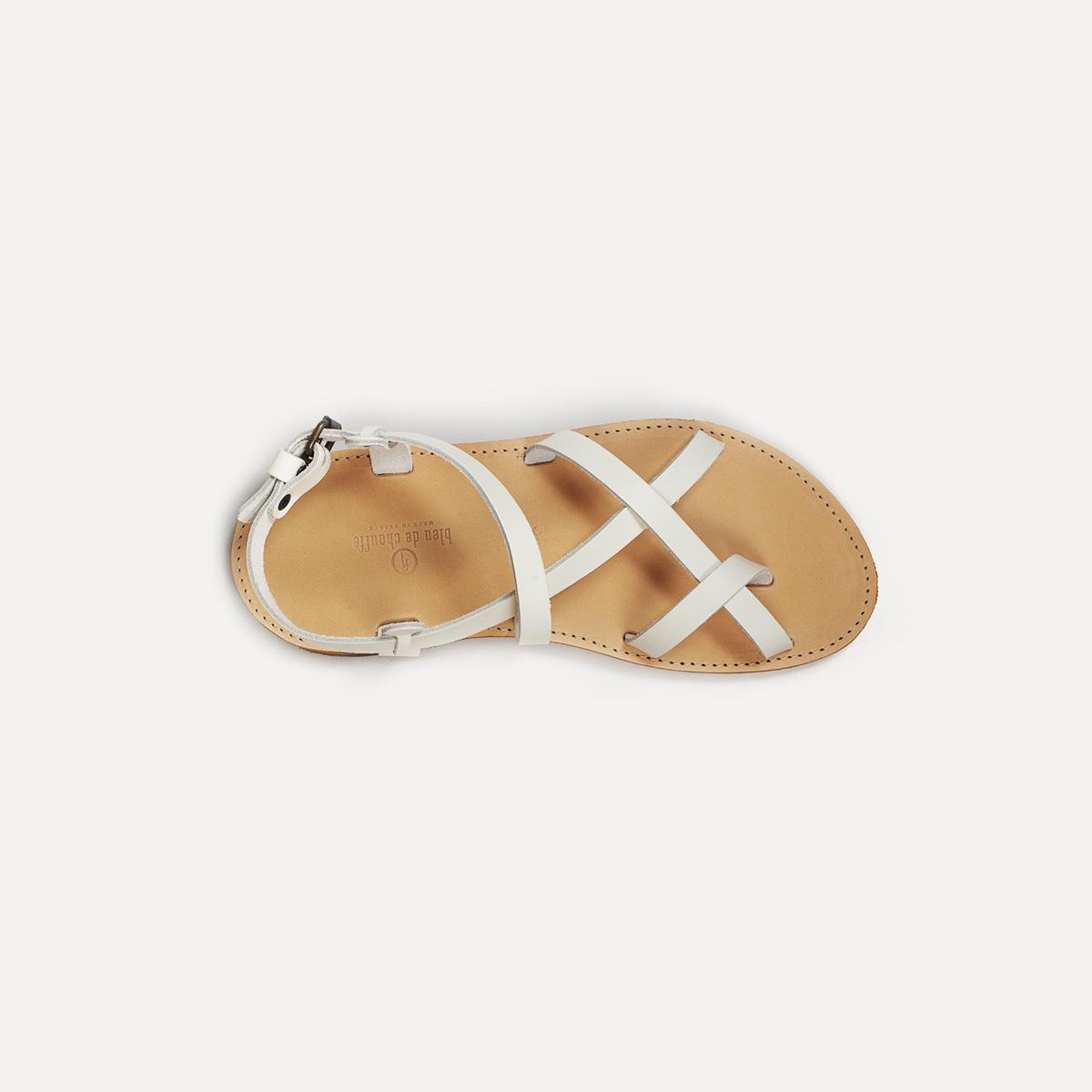 Sandales cuir Nara - Blanc (image n°4)