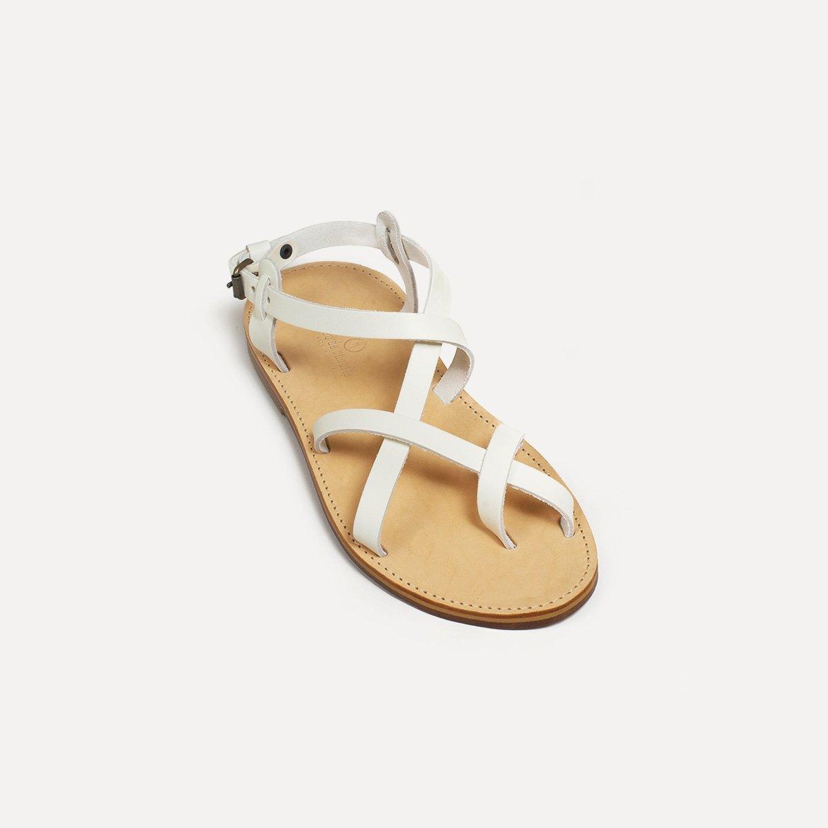 Sandales cuir Nara - Blanc (image n°2)