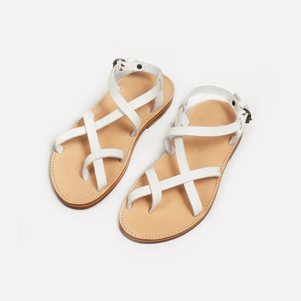 Sandales cuir Nara - Blanc (image n°3)