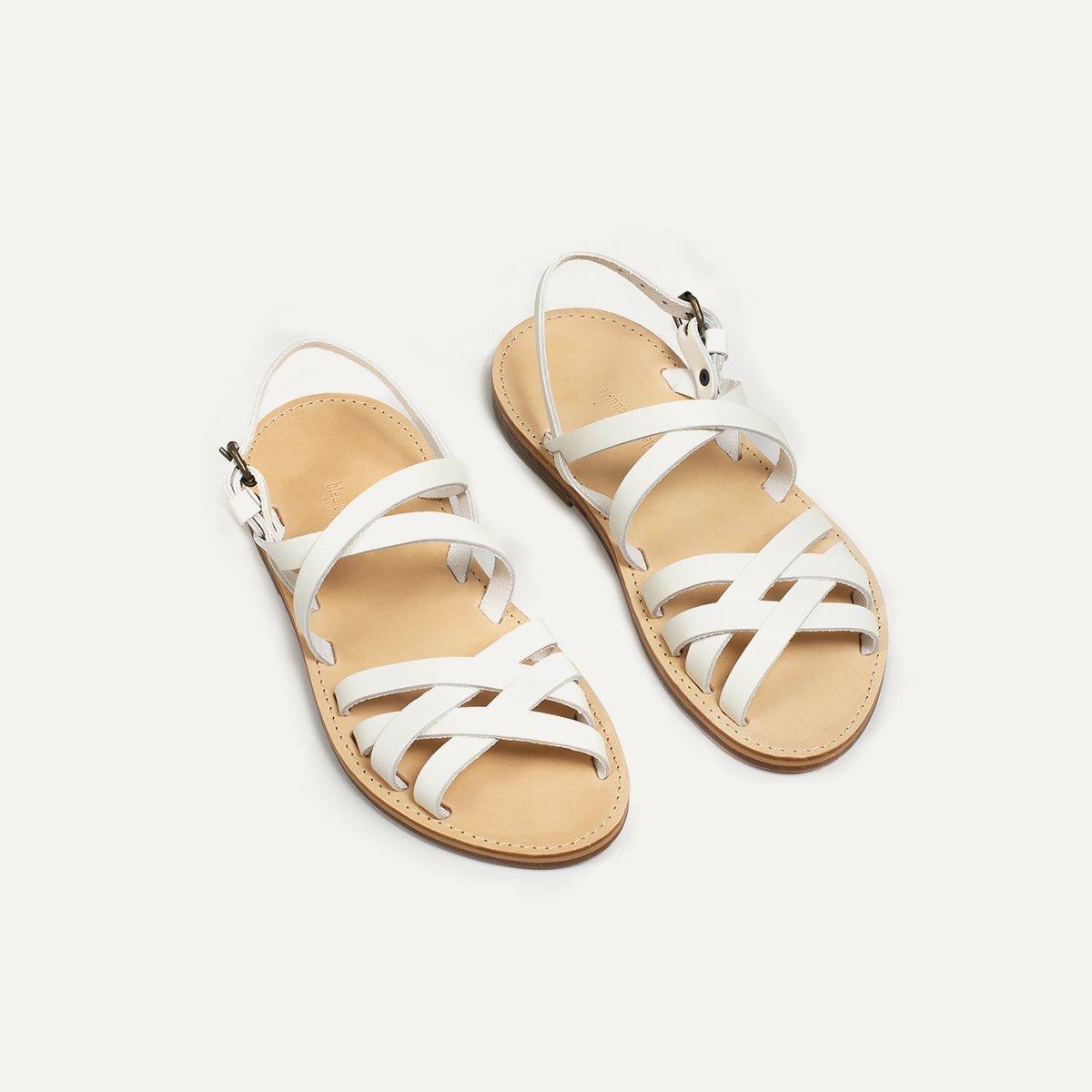 Sandales cuir Majour - Blanc (image n°3)