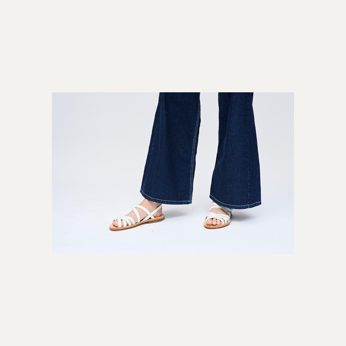 Sandales cuir Majour - Blanc (image n°5)