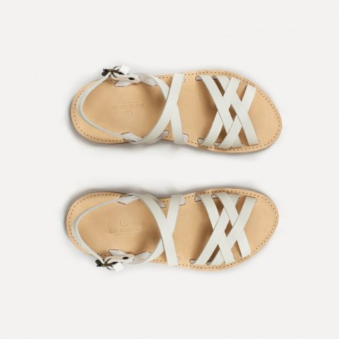 Majour leather sandals - White