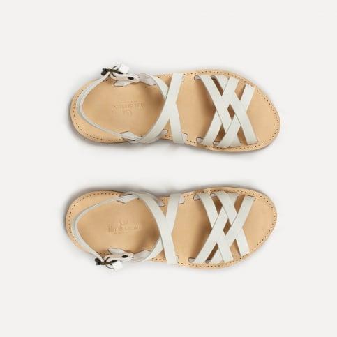Sandales cuir Majour - Blanc