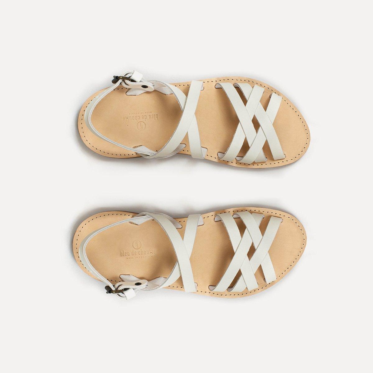 Sandales cuir Majour - Blanc (image n°1)