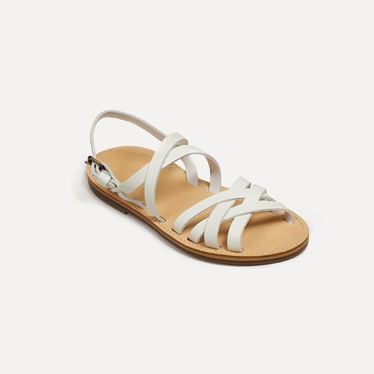 Sandales cuir Majour - Blanc (image n°2)