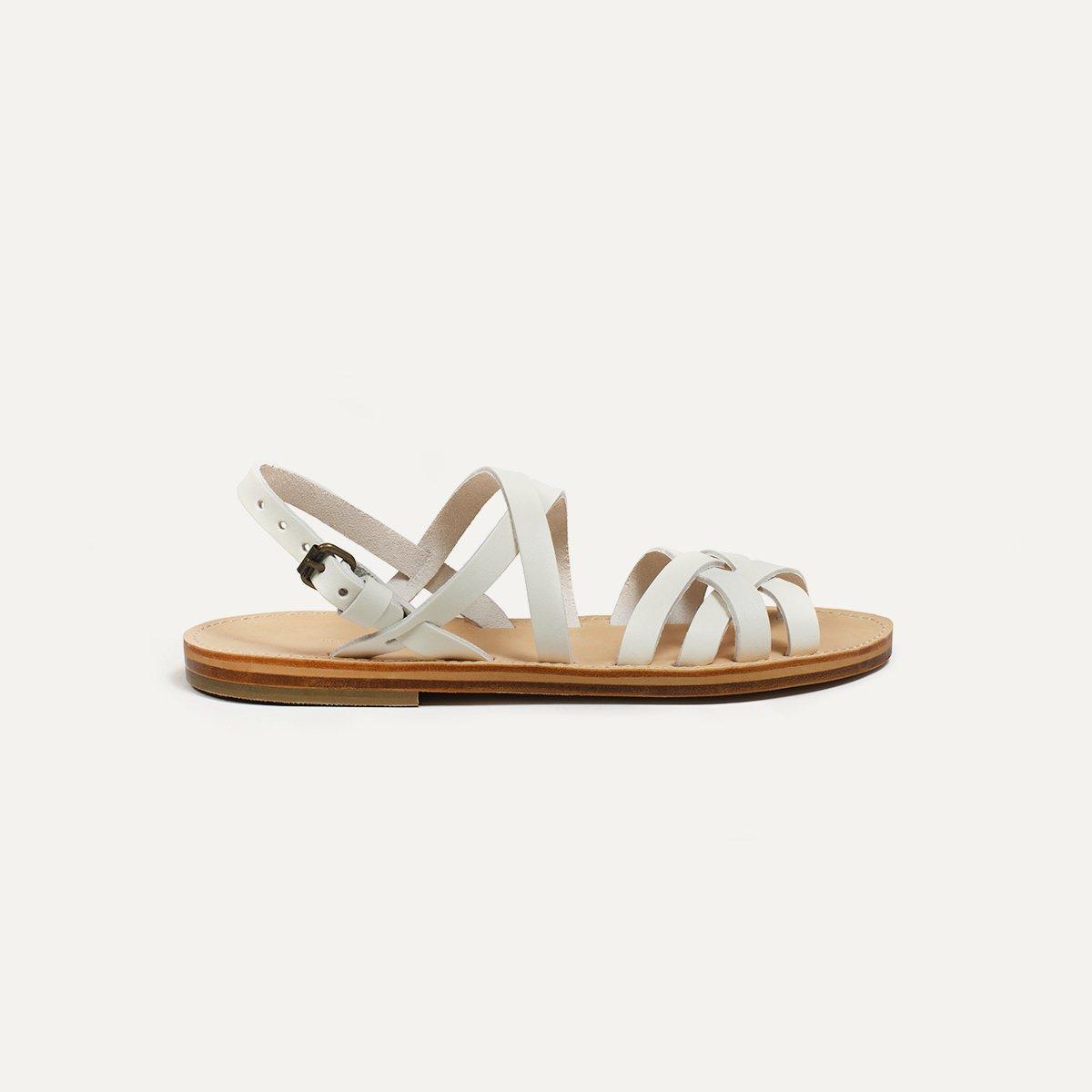 Sandales cuir Majour - Blanc (image n°4)