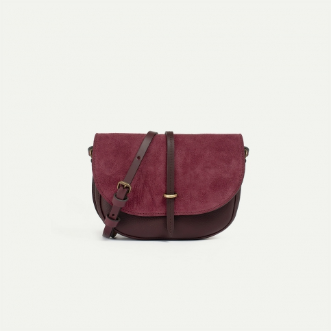 Java mini Postman bag - Burgundy
