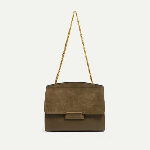 Origami S clutch bag - Khaki