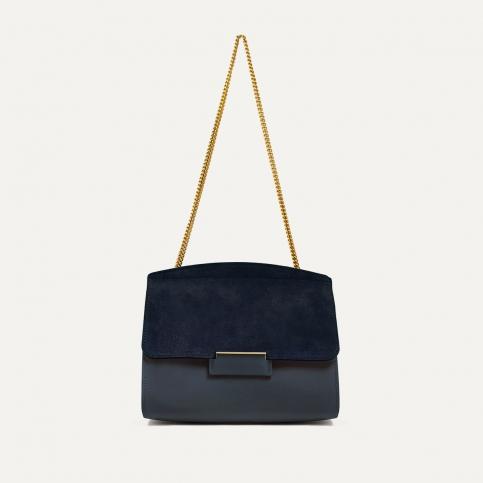 Origami S clutch bag - Marine Blue