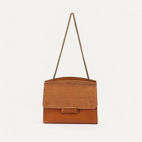 Origami S clutch bag - Havana