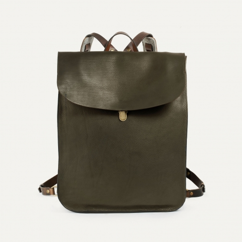 Arlo leather backpack - Khaki / E Pure
