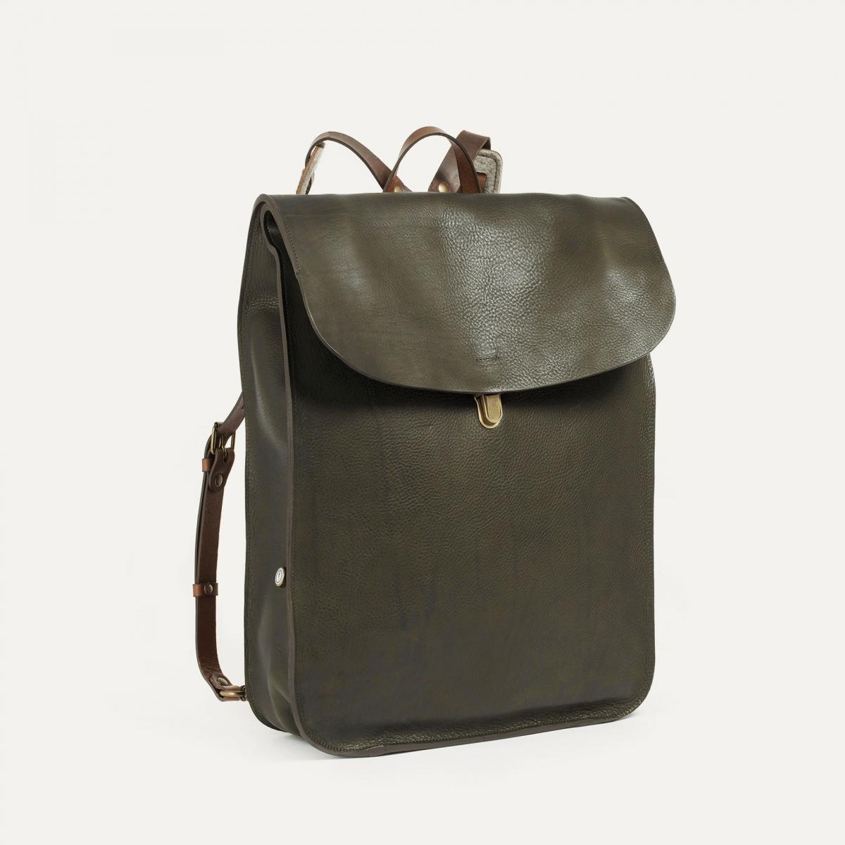 Arlo leather backpack - Khaki / E Pure (image n°2)