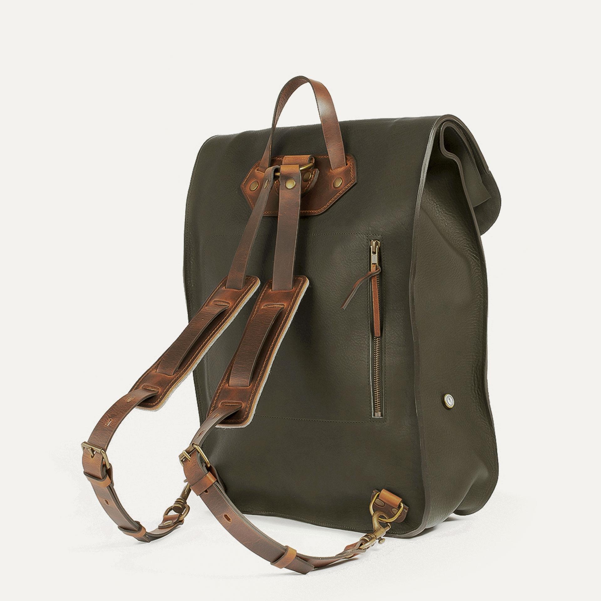 Arlo leather backpack - Khaki / E Pure (image n°3)