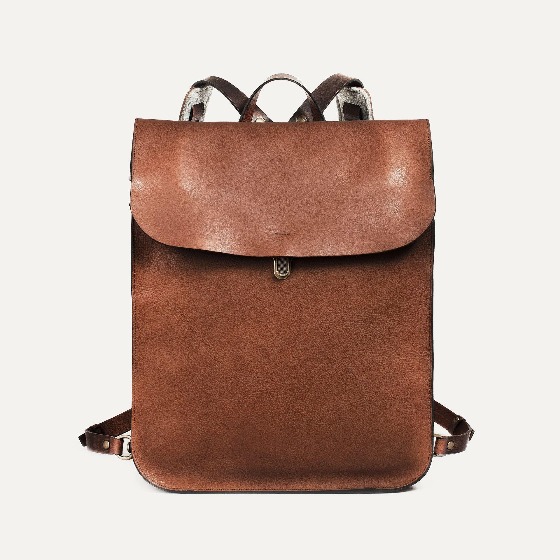 Arlo leather backpack - Cuba Libre / E Pure (image n°1)