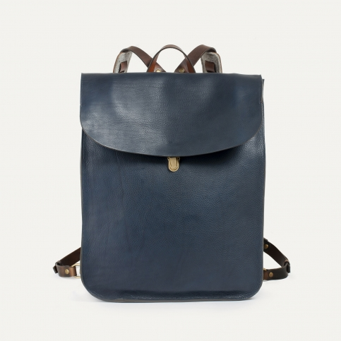 Arlo leather backpack - Navy Blue / E Pure
