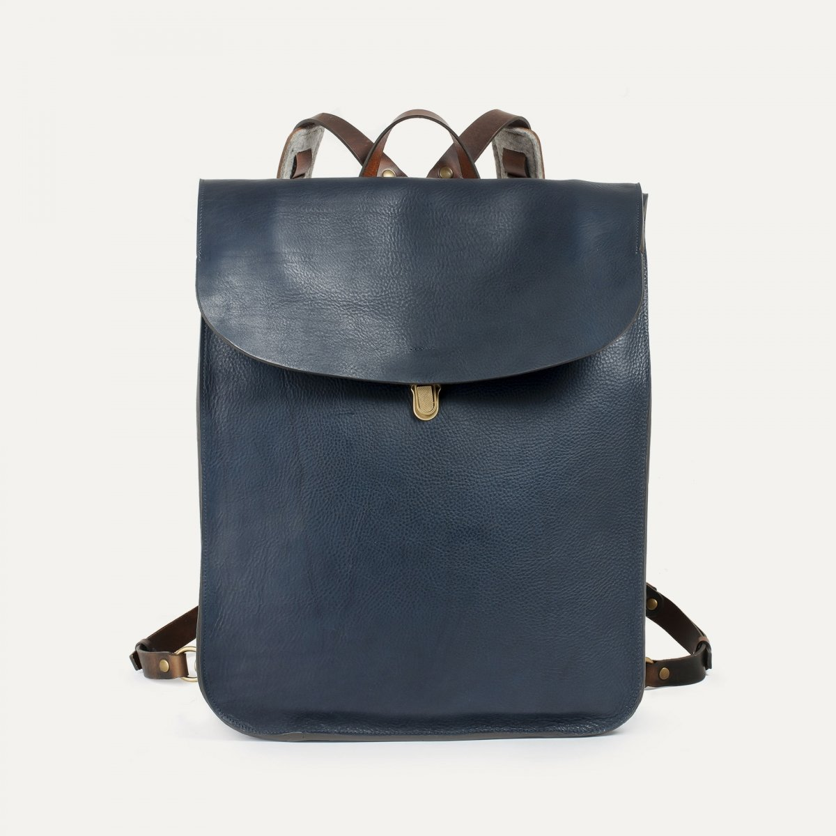 Arlo leather backpack - Navy Blue / E Pure (image n°1)