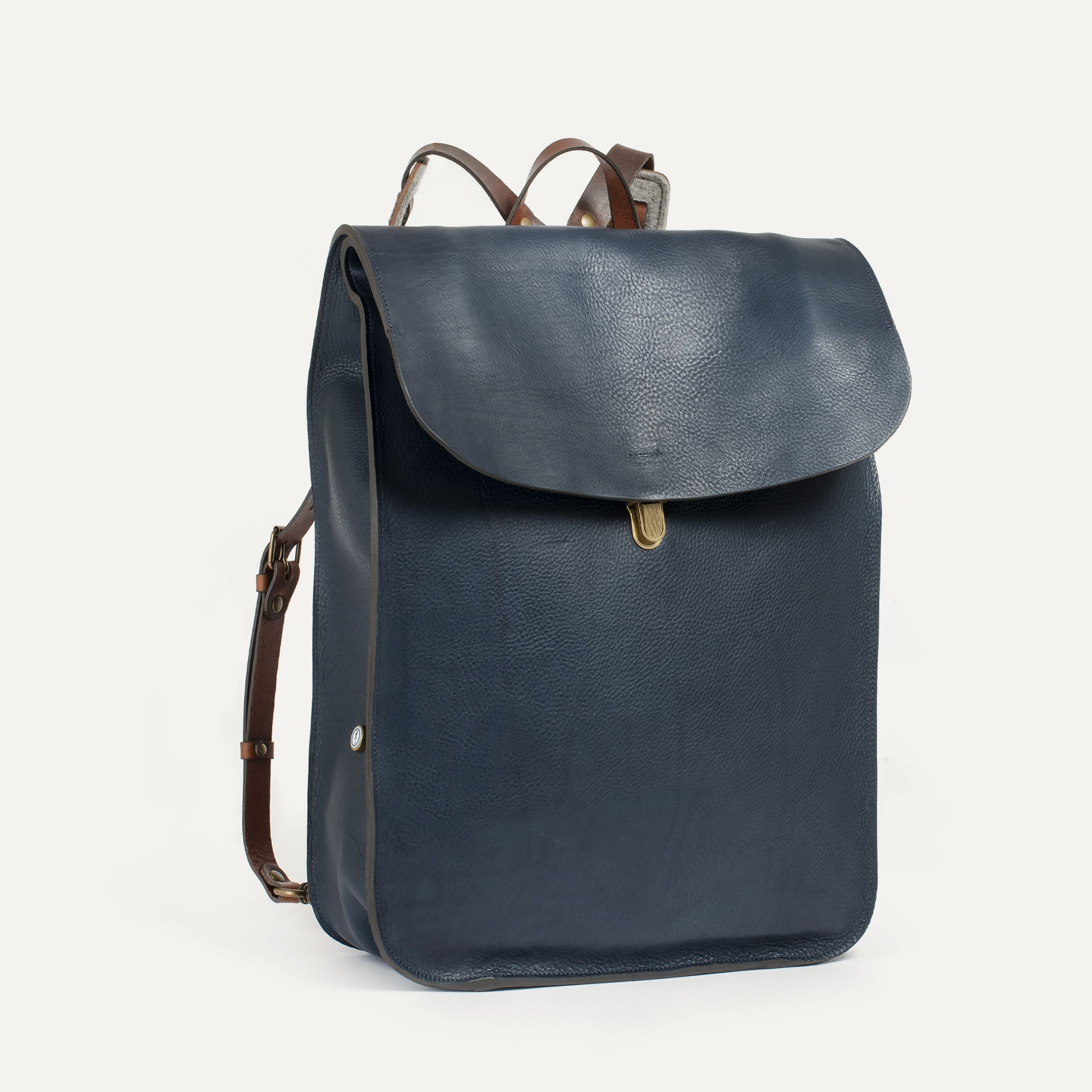 Arlo leather backpack - Navy Blue / E Pure (image n°2)