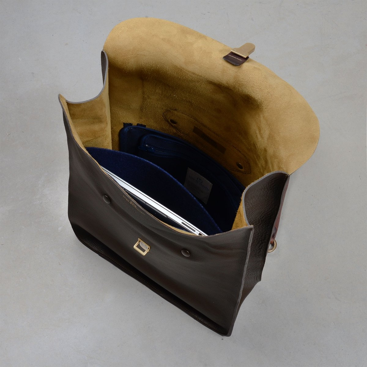 Arlo leather backpack - Navy Blue / E Pure (image n°4)