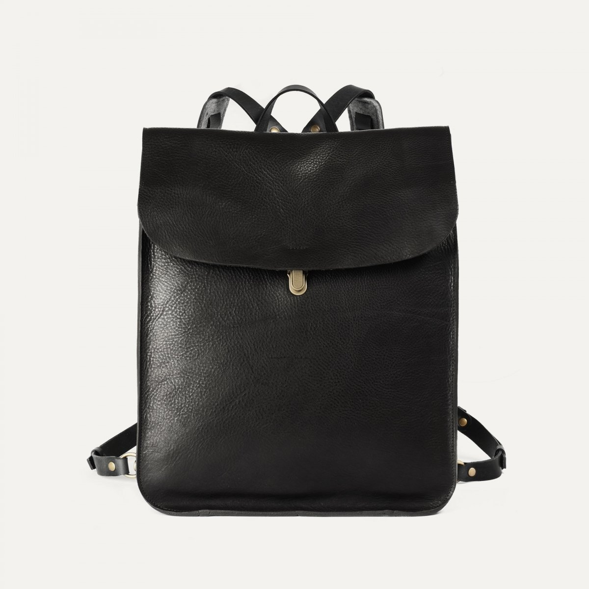 Arlo leather backpack - Black / E Pure (image n°1)
