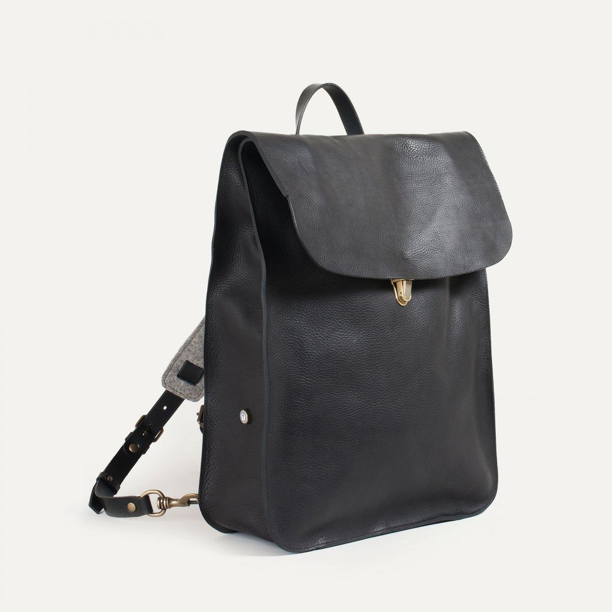 Arlo leather backpack - Black / E Pure (image n°2)
