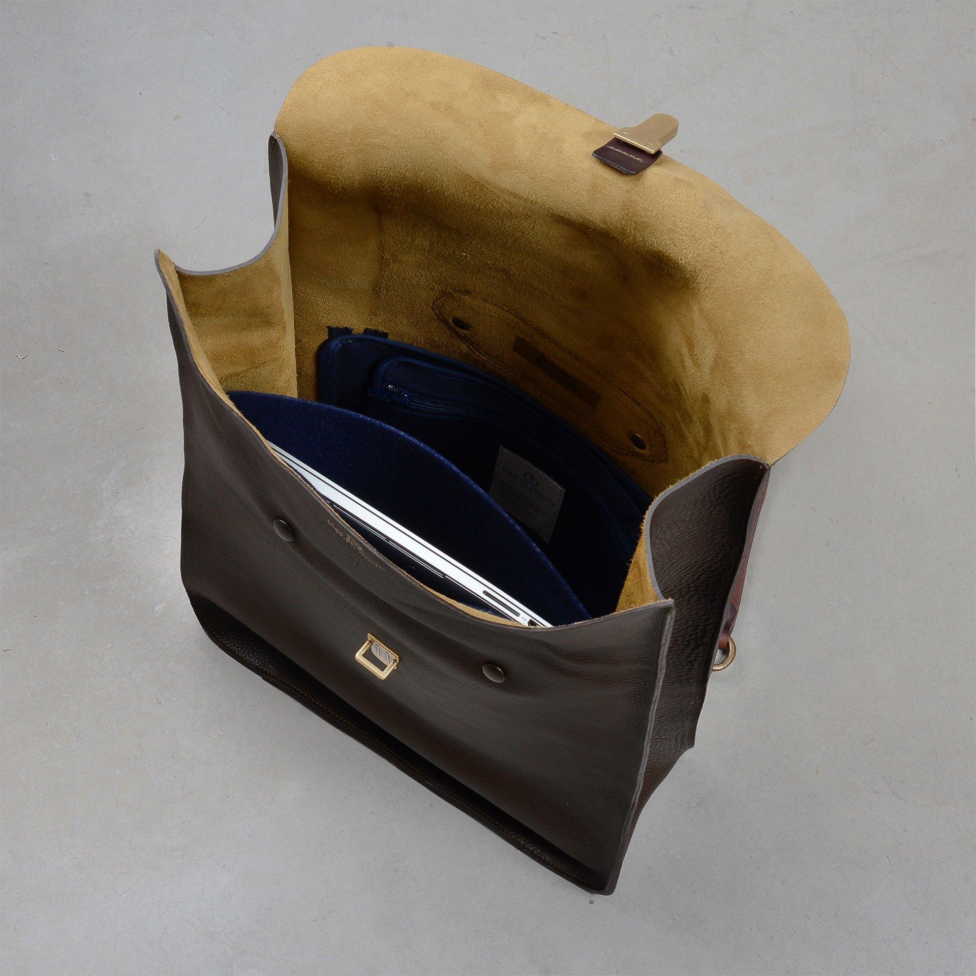 Arlo leather backpack - Black / E Pure (image n°4)