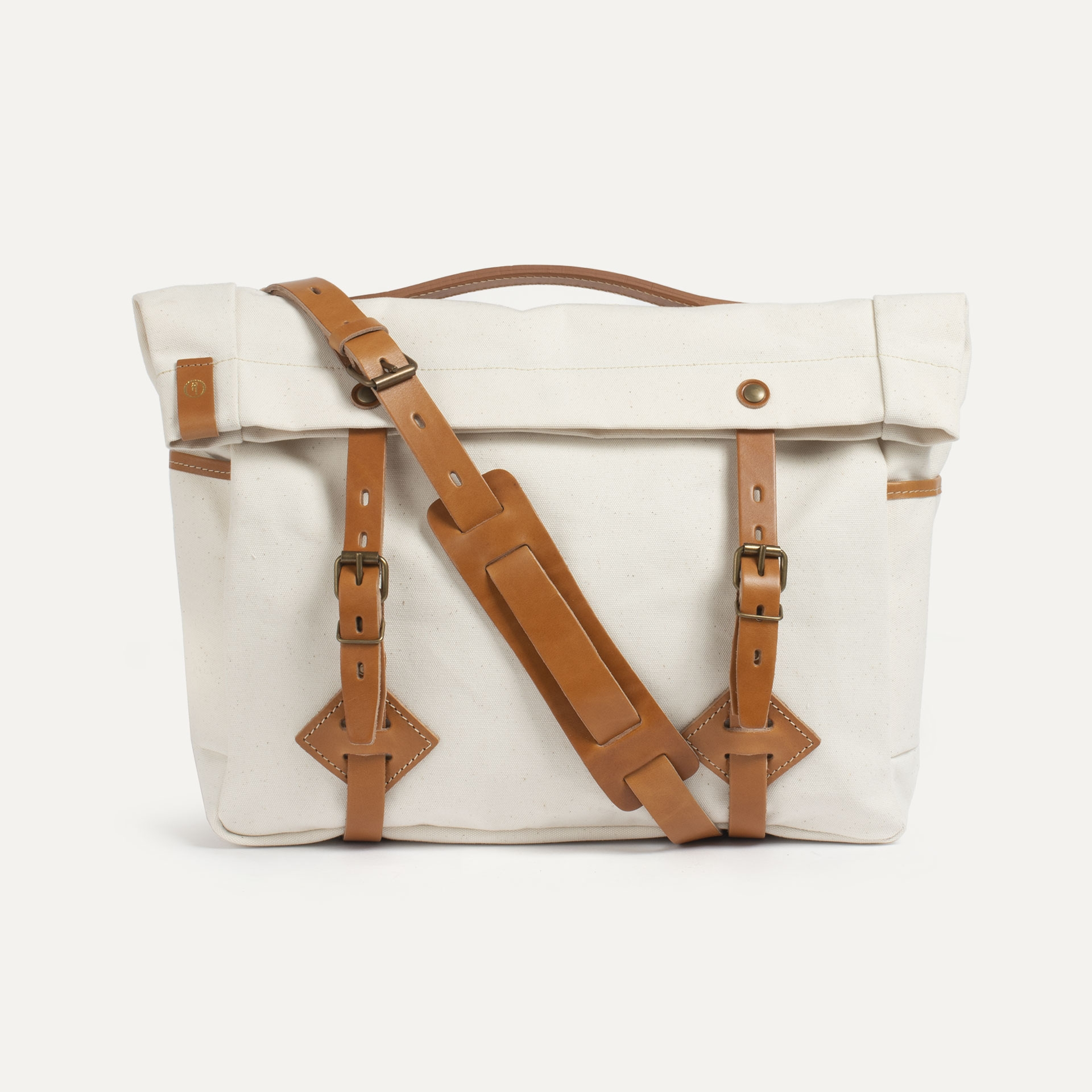 "Gaston tool bag – ""Musette"" - Ecru (image n°1)"