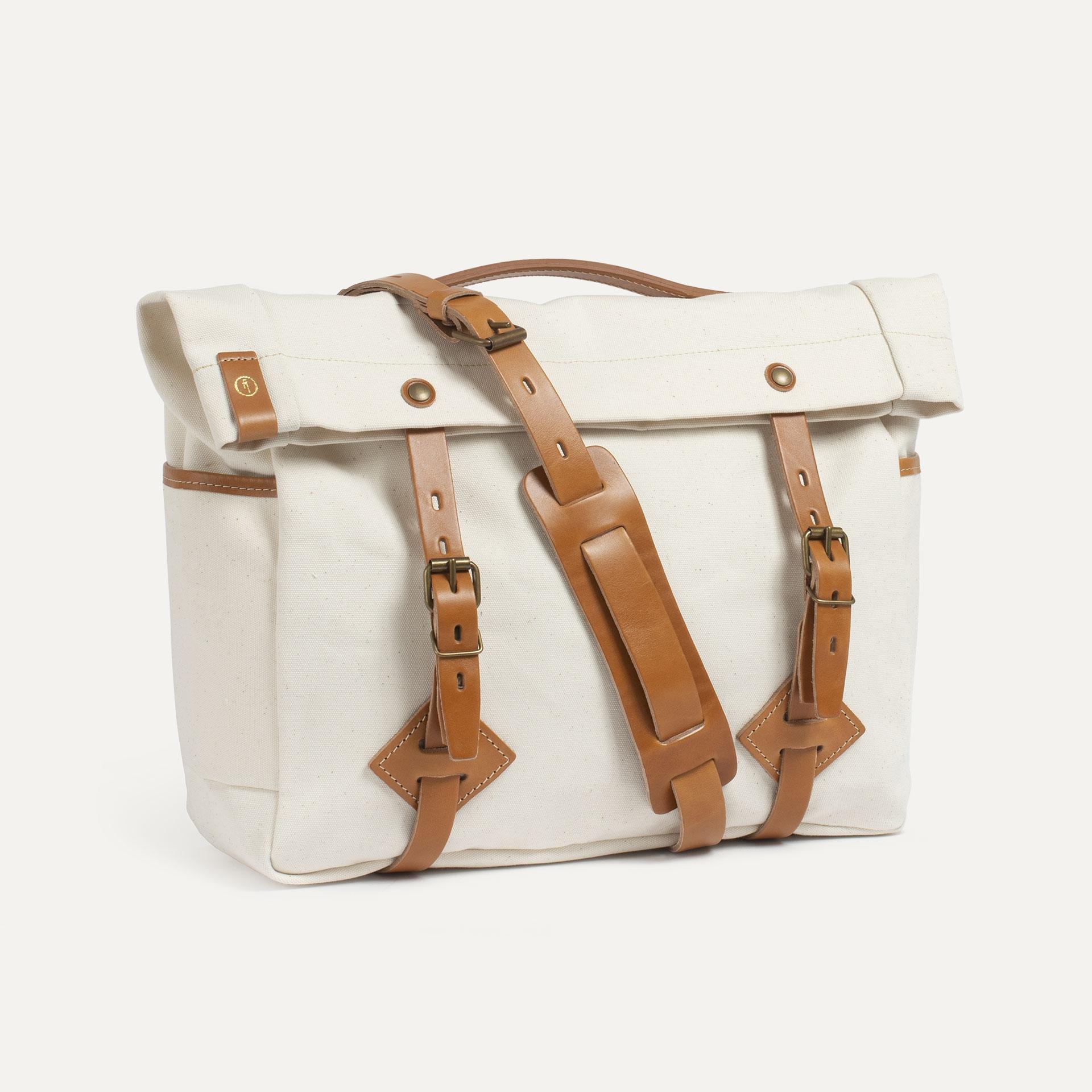 "Gaston tool bag – ""Musette"" - Ecru (image n°2)"