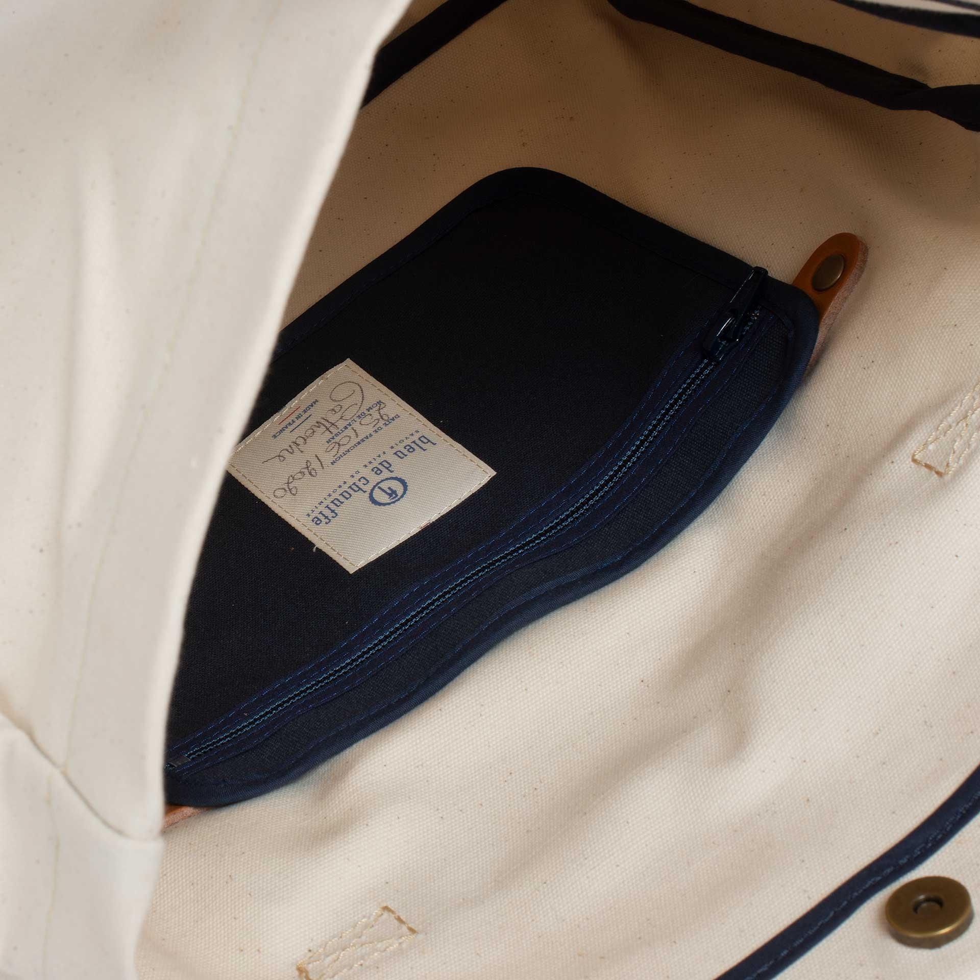 "Gaston tool bag – ""Musette"" - Ecru (image n°4)"