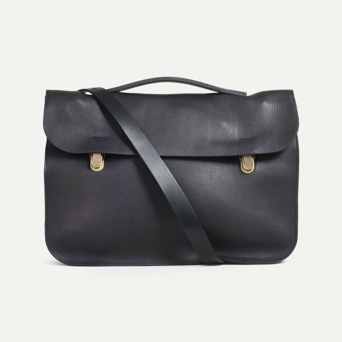 Groucho Leather Satchel - Black / E Pure (image n°1)
