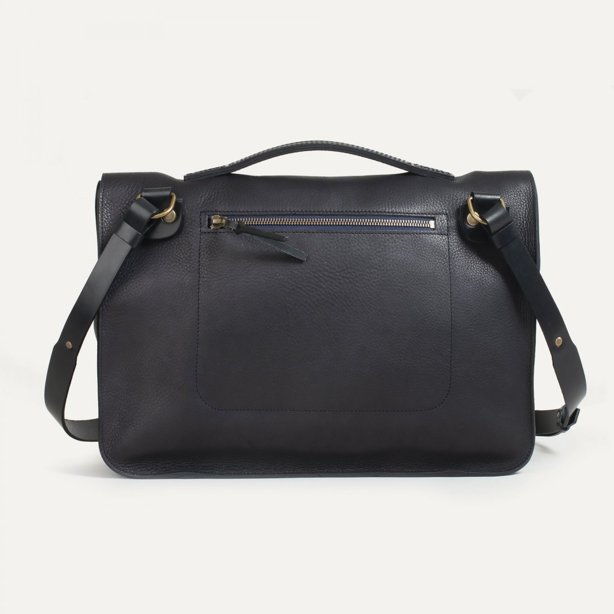 Groucho Leather Satchel - Black / E Pure (image n°2)