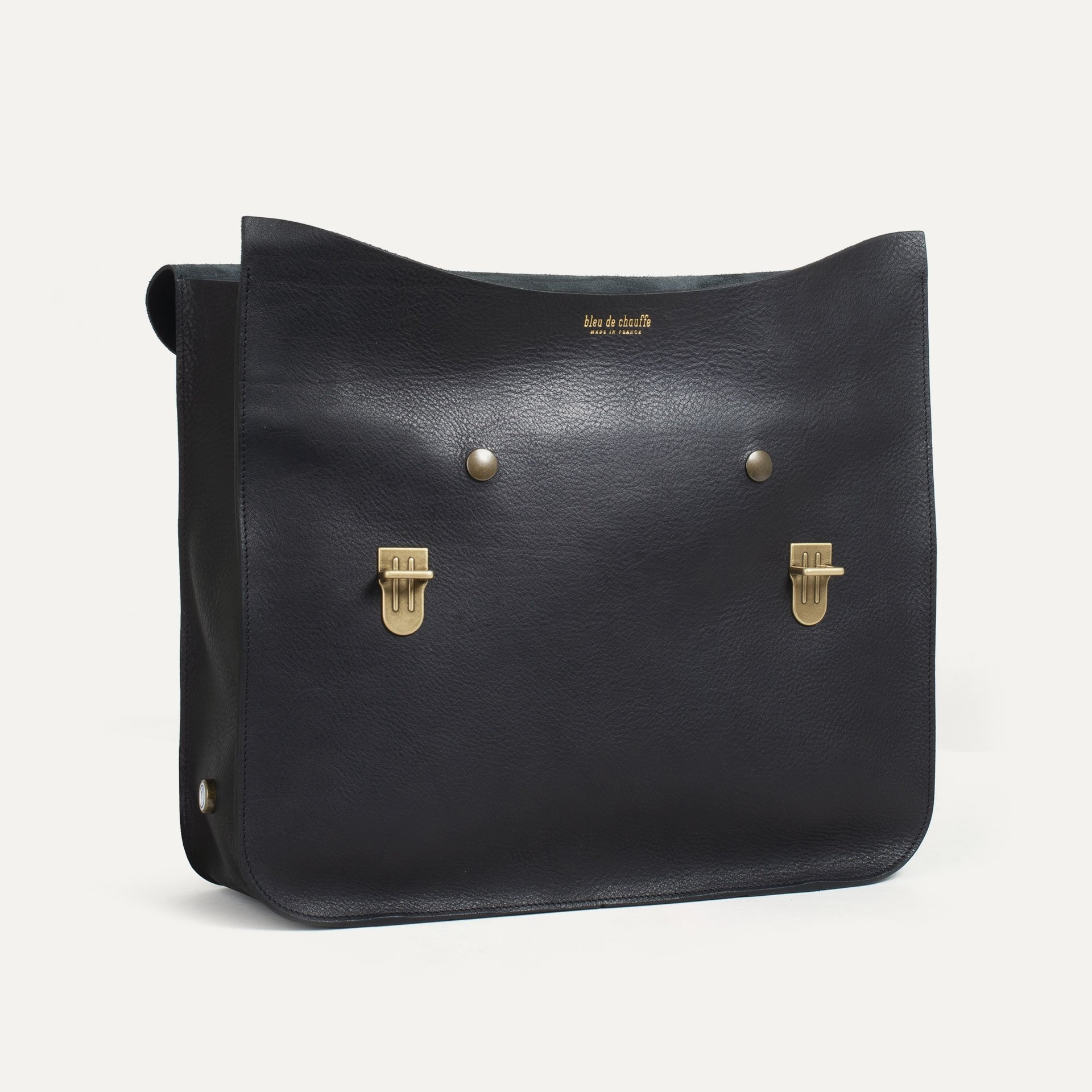 Groucho Leather Satchel - Black / E Pure (image n°3)
