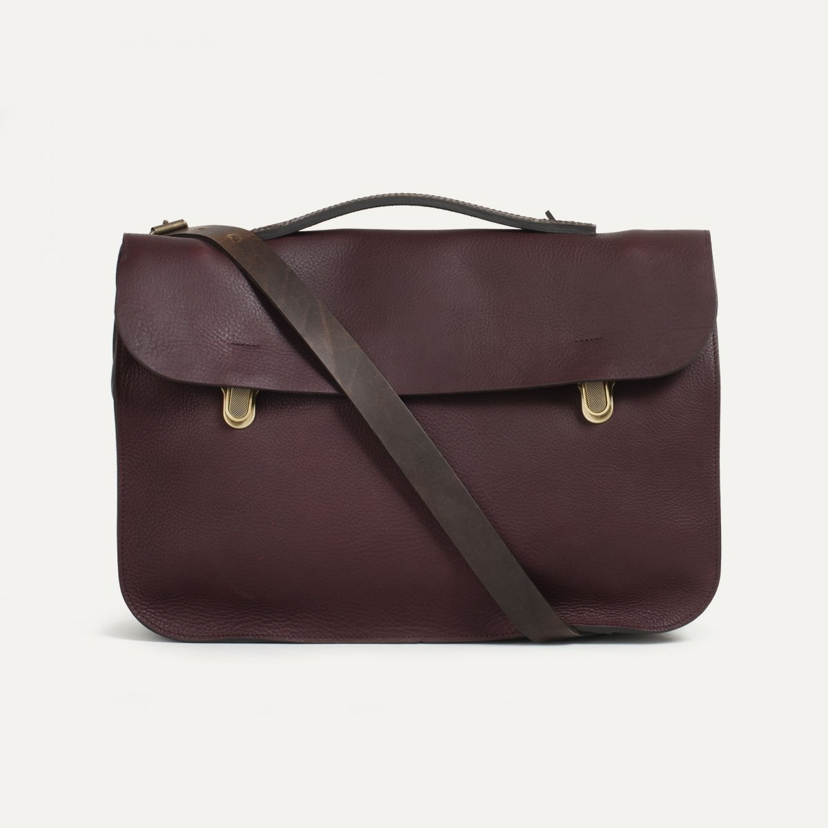 Groucho Leather Satchel - Peat / E Pure (image n°1)