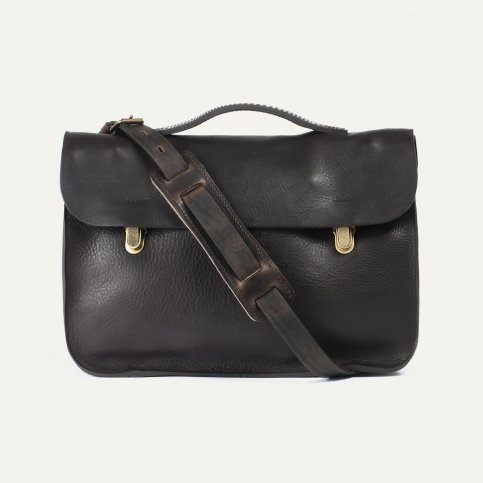 Groucho Leather Satchel - T Moro / E Pure