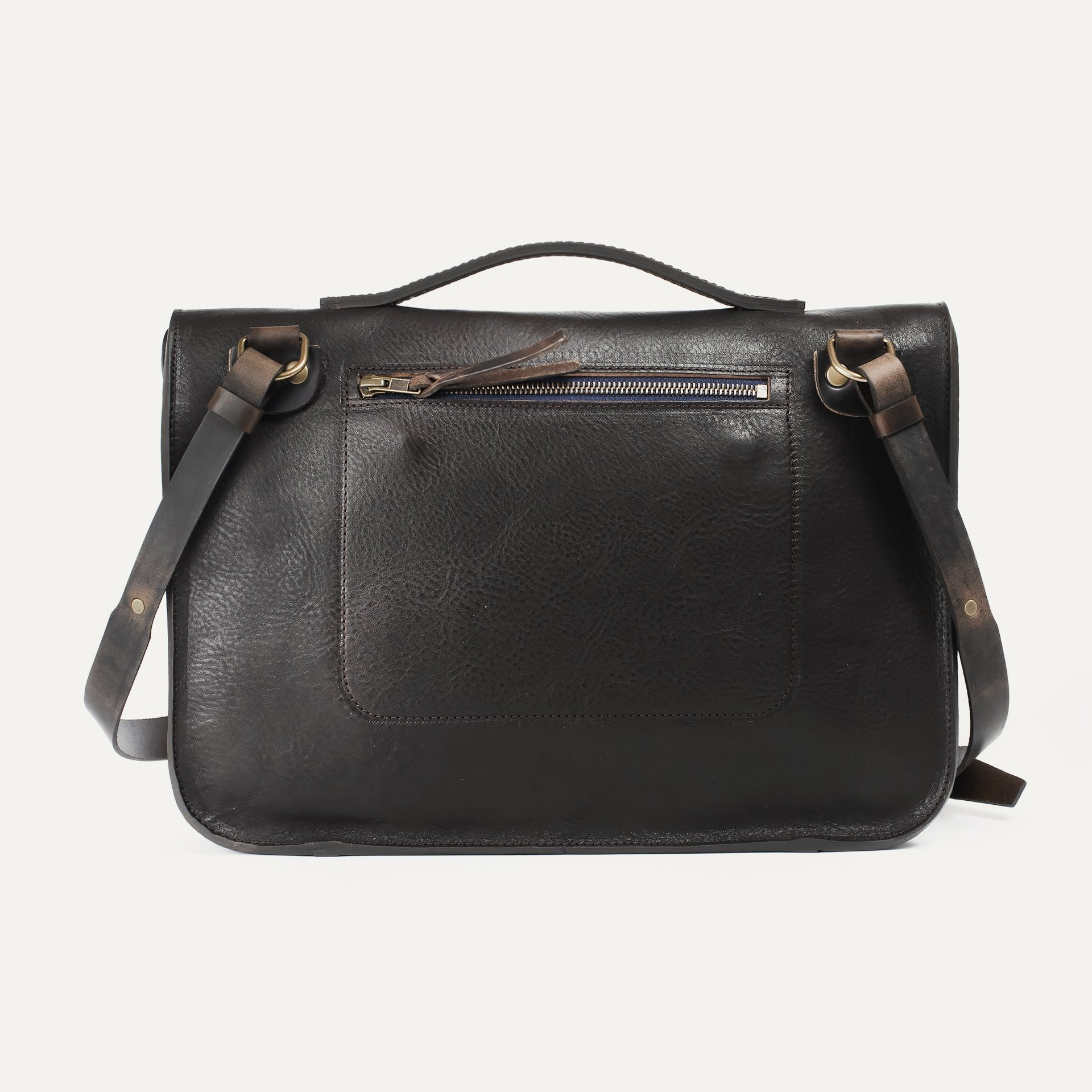 Groucho Leather Satchel - T Moro / E Pure (image n°2)